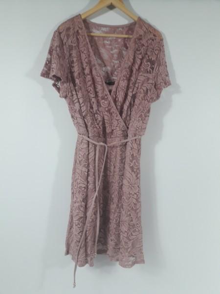 Bodyflirt Kleid mit Spitze rosenholz Gr. 48/50 | eBay